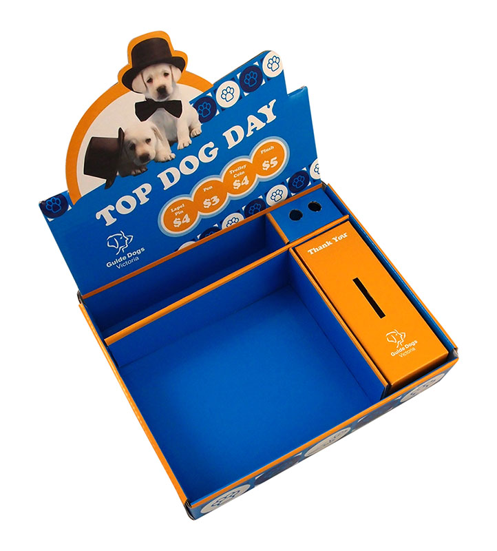 Guide Dogs Victoria, Top Dog Day, Carboard POS display box