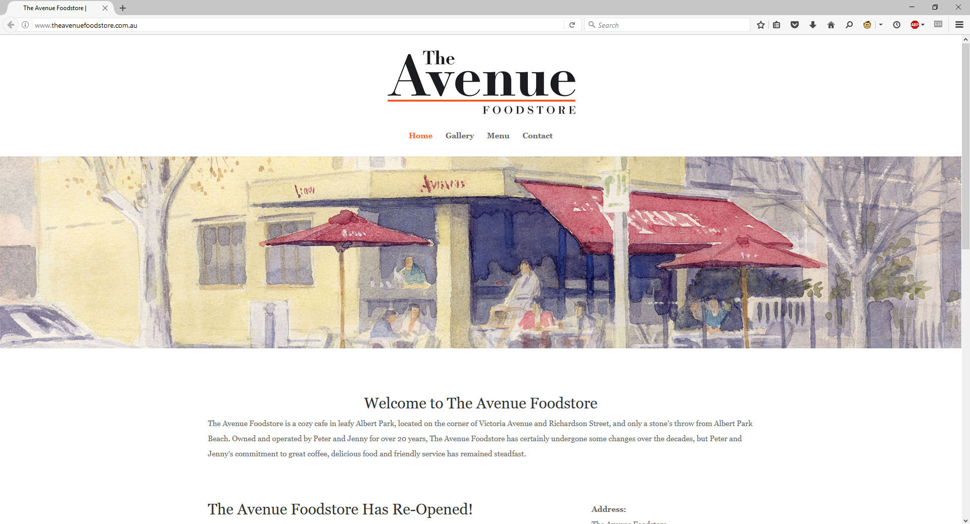theavenuefoodstore.com.au website