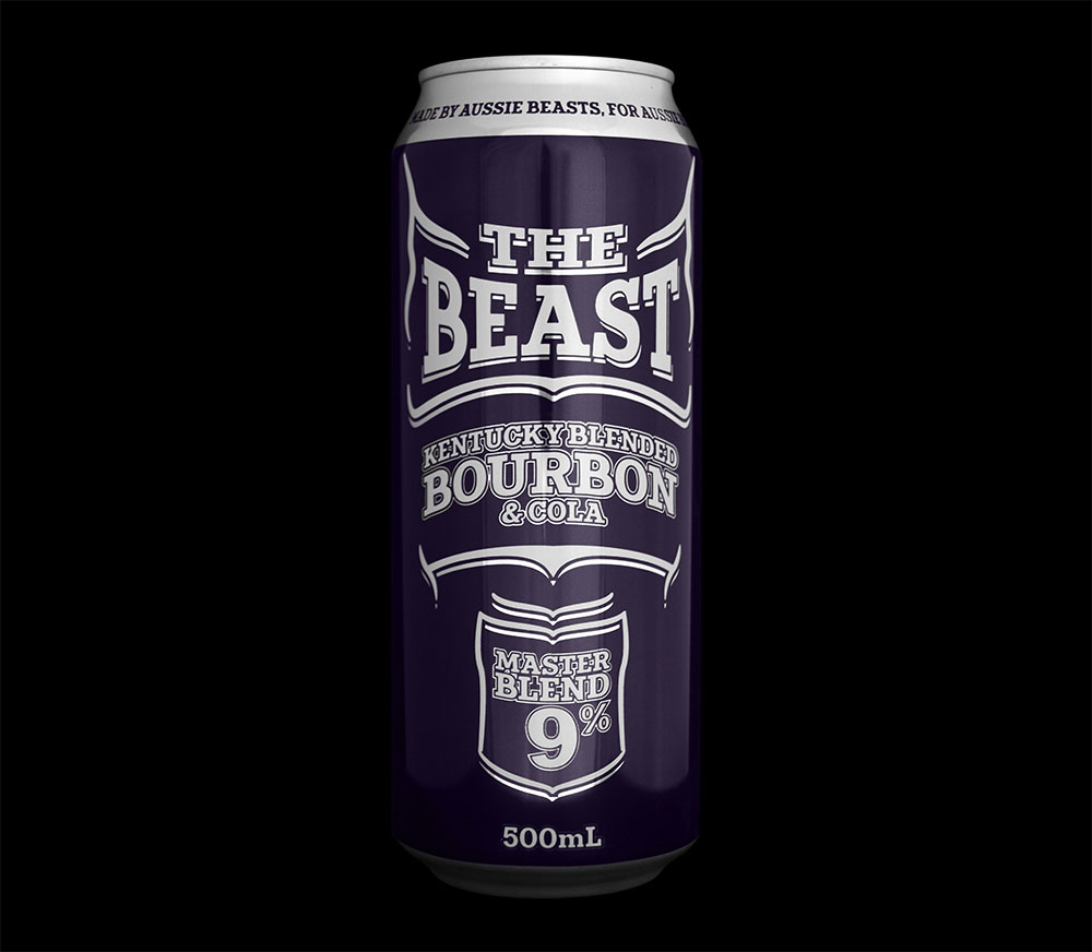 The Beast Bourbon and Cola Can